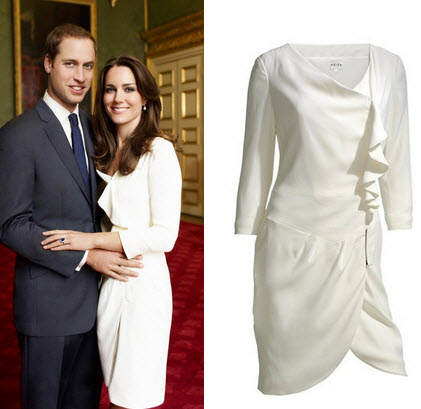 She did the same thing with her white reiss dress worn for the